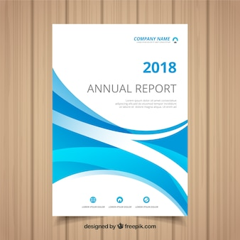 Wavy annual report cover