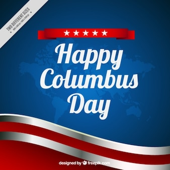 Wavy background of columbus day
