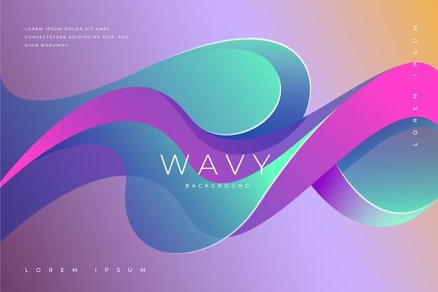 波状の背景のコンセプト
