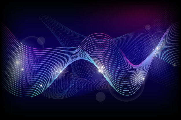ブルーの色調で波状の背景