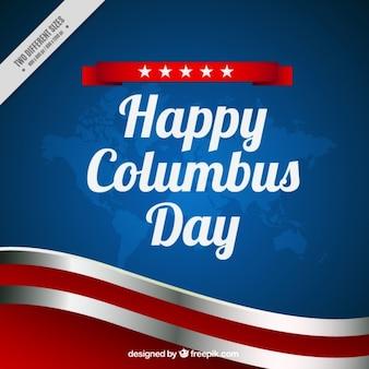 콜럼버스의 날의 물결 모양 배경