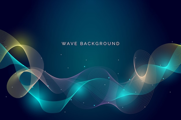 Wavy background theme