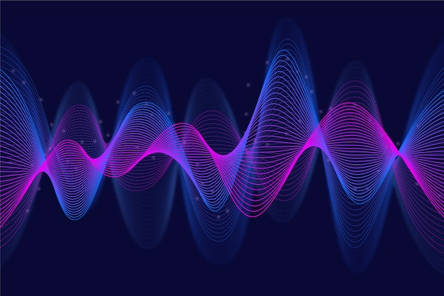 Волнистый фон фиолетовый и синий движения