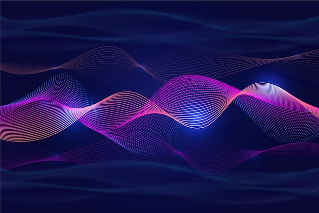 Wavy background violet curvy shadows