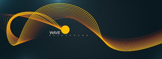 Wavy background with orange color blend