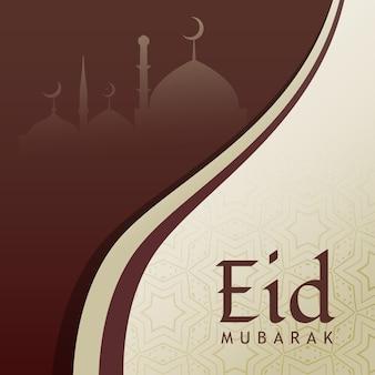 Eid фестиваль приветствие дизайн фон