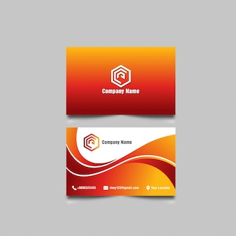 Wavy-business card