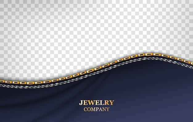 Wavy chain background template