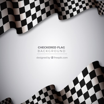 Wavy checkered flag background
