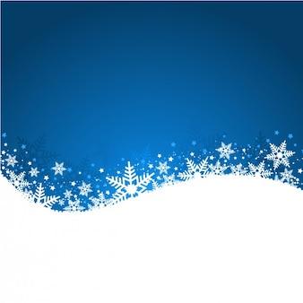 Wavy sfondo natale con fiocchi di neve