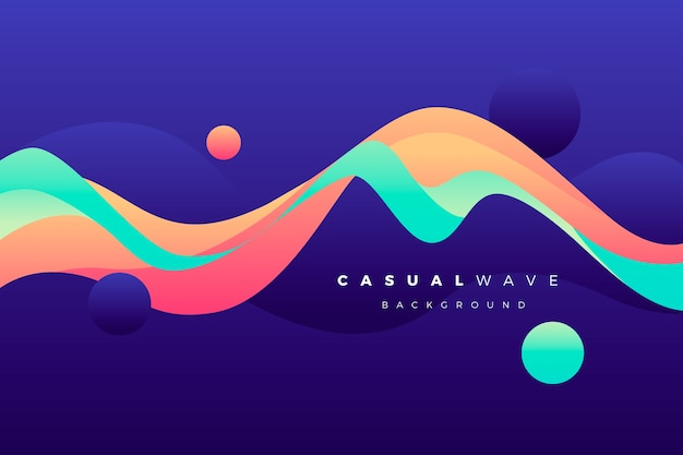 Wavy colorful background
