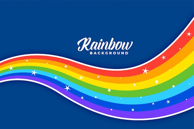 Wavy colorful rainbow background