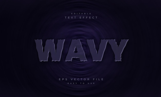 Wavy editable text effect on dark wavy background