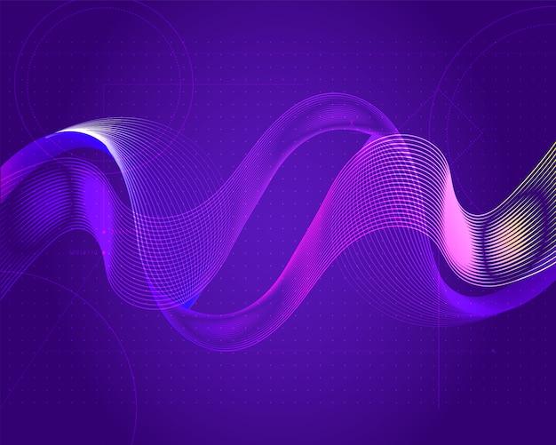 Wavy futuristic digital technology background