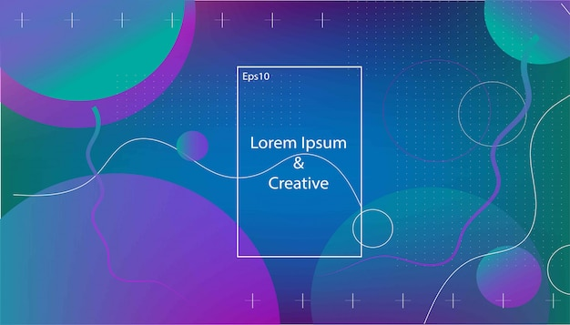 Wavy geometric background. trendy gradient shapes composition