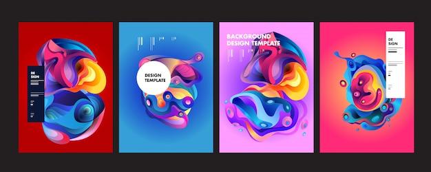 Wavy geometric colorful background