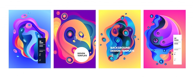 Wavy geometric colorful background