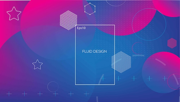 Wavy geometric with fluid  background