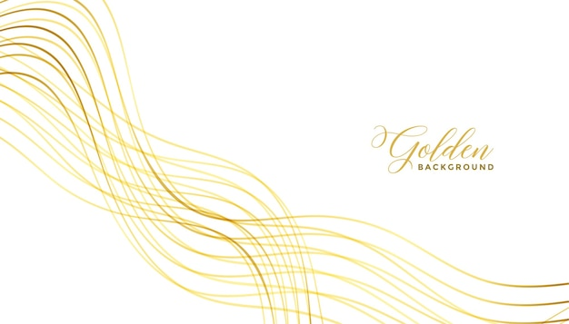 Wavy golden lines premium background design