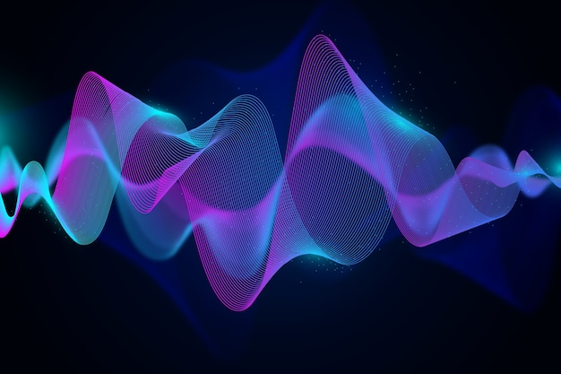Wavy gradient lights background