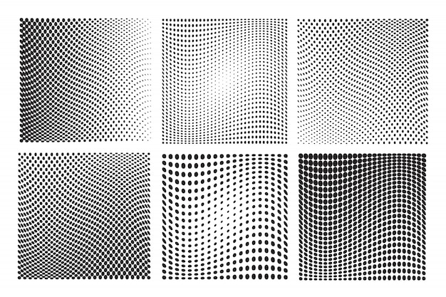 Wavy halftone backgrounds