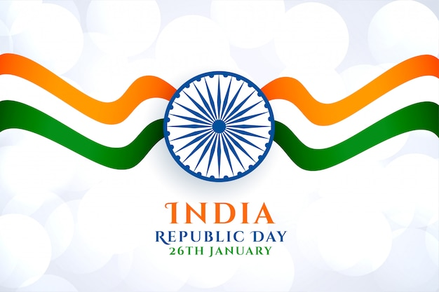 Wavy indian flag for republic day