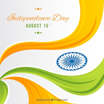 Wavy indian independence day background