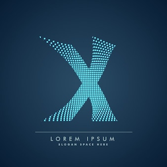 Wavy letter x logo in abstract style