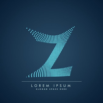 Wavy letter z logo in abstract style