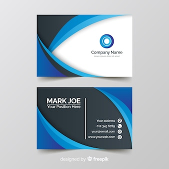 Wavy lines business card template