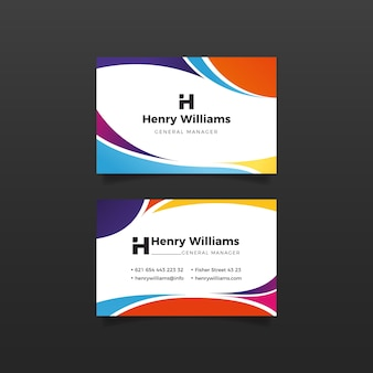Wavy lines design for business card