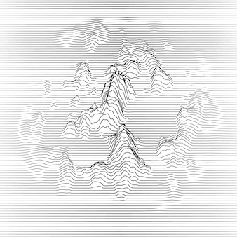 Wavy lines making mountains