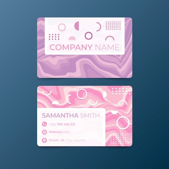 Wavy lines minimal business card template