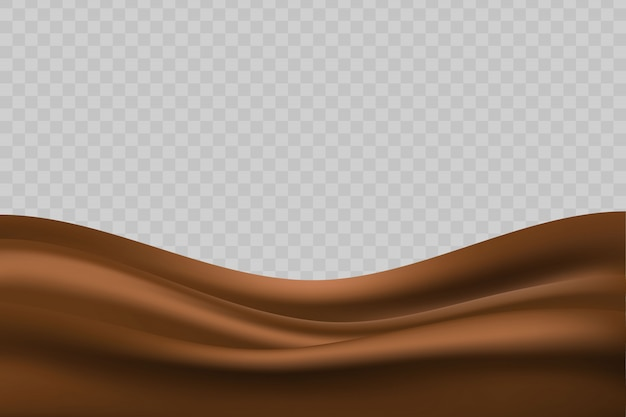 Wavy liquid chocolate background