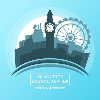 Wavy london skyline design