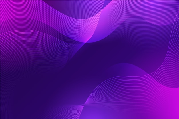 Wavy luxury abstraction in gradient violet tones