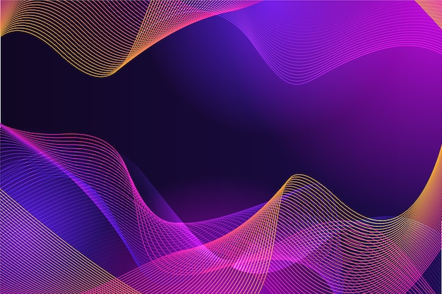 カラフルな色調で波状の豪華な抽象化