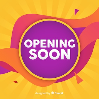 Wavy opening soon background