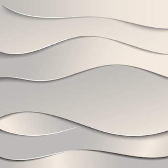 Wavy paper cut background