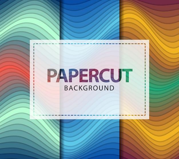 Волнистые papercut абстрактный фон