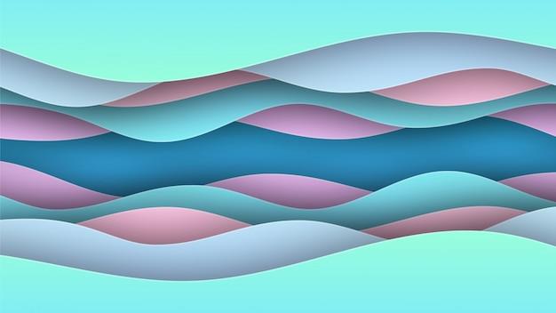 Wavy pastel colors paper background