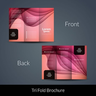 Wavy pink tri fold
