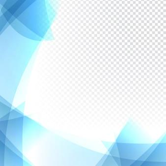 Trasparente sfondo blu ondulato