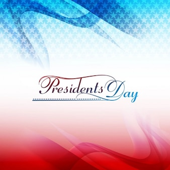 Wavy presidents day background with stars