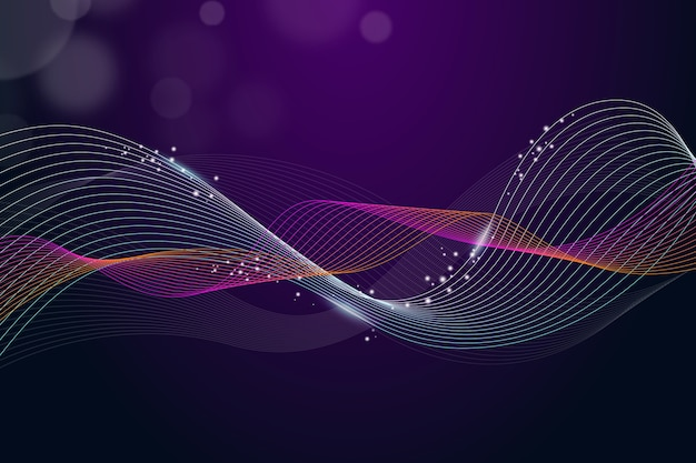 Wavy purple background