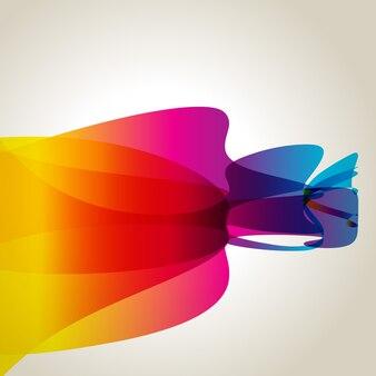 Wavy rainbow color background design