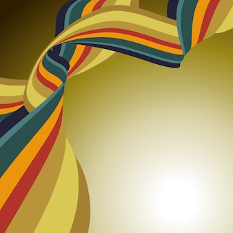 Wavy ribbon background