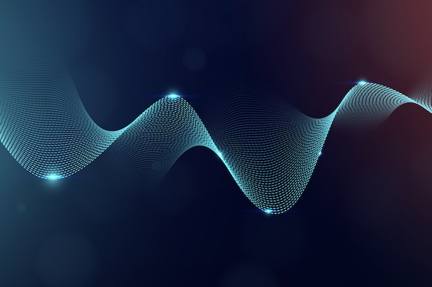 Wavy science technology background