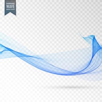 Astratto blu trasparente onda vettoriale sfondo