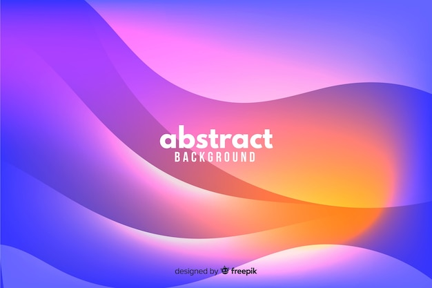 Wavy shapes background gradient style